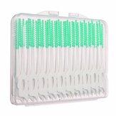 40pcs interdentale tra i denti pennello filo interdentale massaggio elastico gomma stuzzicadenti