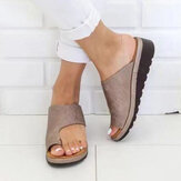 Large Size Casual Soft Clip Toe Flat Sandals