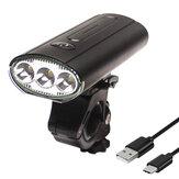 BIKIGHT 3 * T6 LED 750 Lümen Bisiklet Far 3000 mAh USB Şarj Kafa Torch Outdoor Bisiklet MTB Yol Bisikleti Işıkları