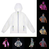 Battery Powered LED Colorful Luminous Costume Clothes Couple Coat Jacket for Party Stage Dancing