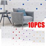 Ladrillos decorativos de techo autoadhesivo de pared estéreo 3D 10PCS