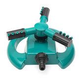 Aspersor giratorio de riego automático de 360 grados, sistema de riego de 3 boquillas, riego de césped