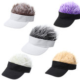 Creative Wig Baseball Hat Hip Hop Sunshade Golf Hat Wacky Duck Tongue Sun Hat