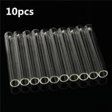 10pcs 12x100mm Lab Chemistry Glassware Borosilicate Glass Teaching Test Tubes