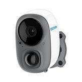 ESCAM G15 1080P Voll HD AI Erkennung wiederaufladbar Batterie PIR Alarm Cloud Storage WiFi-Kamera