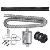 Braçadeiras de silenciador de escape de aço inoxidável Suporte de ventilação de gás Mangueira Silêncio de tubo portátil para ar Diesel Aquecedor