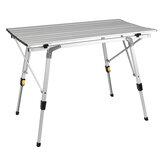 Table pliante en aluminium 90 cm / 120 cm Table élévatrice rétractable mobile Table de loisirs de plein air portable pour Camping Barbecue
