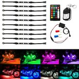 10pcs sans fil RGB IR / RF Multi-Color LED Light Strips Télécommande Neon Atmosphere Lamp