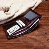 محفظة نقود من جلد التمساح الأصلي للرجال بطاقة