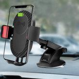 5W Qiワイヤレス充電サクションカップロングアームiPhoneの携帯電話のための伸縮自在の車のマウントホルダー