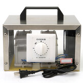 220V 20g / h Compresse ceramiche di generatore di ozono integrate Piatto Refrigeratore di sterilizzatore ad acqua aria con interruttore di temporizzazione Ozonizzatore purificatore