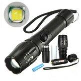 Elfeland T6 2000lumen 5 Modes Zoomable LED-zaklamp met 18650
