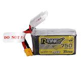 TATTU R-LINE 1.0 14,8 V 750 mAh 95C 4S Lipo Batterie XT30 Stecker für 100 mm bis 180 mm FPV Race Drone Quadcopter