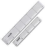 Yujie 20 cm en 30 cm snijden rechte liniaal Anti-snijden regels Regelmatige regels Collage regels 2 in 1
