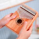 17 Key African Mahogany Wooden Kalimbas Thumb Piano Finger Percussion Music Mbira