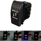 12V 7-Pin 20A Winch In/Out ON-OFF-ON ARB Rocker Switch Car Boat 4 Colors LED