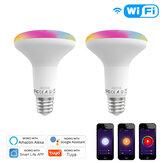 MoesHouse E27 13W WiFi Smart LED-lamp Dimbare RGB C + W-lamp Smart Life Tuya APP Werken met Alexa Google Home