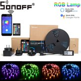SONOFF L1 Regulable IP65 2M 5M Smart WiFi RGB LED Kit de luces de tira Funciona con Amazon Alexa Google Home Decoraciones navideñas Liquidación Luces navideñas