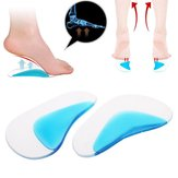 1 Pair Foot Care Pute Correction gel Arch Support Insoles Ortopedisk Foot Pedicure Tools