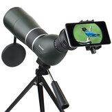 IPRee 12-36X50A / 15-45X60A Telescópio monocular de observação de pássaros Óptica de alta definição Zoom Lente Ver ocular