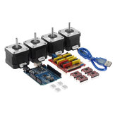 TWO TREES® CNC Shield + UNO R3 Board + 4x A4988 Stepper Motor Driver + 4x 4401 Kit Stepper Motor للطابعة ثلاثية الأبعاد