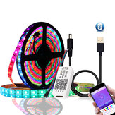 DC5V 1M 2M WS2812B 5050 Bluetooth USB APP-kontrol RGB Individuelt adresserbar LED Strip Light Kit