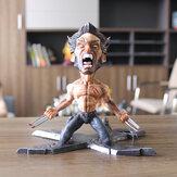 Super Hero Wolverine PVC Action Figure Knielend model speelgoed voor decoratiecollectie