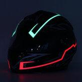 Motorcycle Helmet Light Strip LED Night SignalLight Luminous Stripe Fashion Modified Glowing Bars
