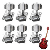 Guitarra acústica String Semiclosed Tuning Pegs Tuners Machine Heads 6L Chrome