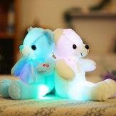 32смМаленькийСветодиодныйИгрушкиПлюшевыемигающие игрушки медведя Светящиеся подушки фаршированные Soft Животные Кукла