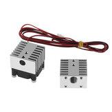 TWO TREES® Aluminium Alloy Dual Head Heatsink V6 Sliver Cooling Block  for 3D Printer