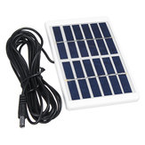 1.2W 6V Mini Portable Polycrystalline Solar Panel with Plastic Frame + 5521 DC Interface Cable