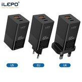 iLEPO GaN Charger 65W PD Fast USB Wall Charger for iPhone 12 Pro Max for Samsung Galaxy Note S20 ultra Huawei Mate40 Laptop