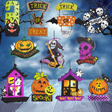 Halloween Spoof Hangende Decoraties Pompoen Ghost Skull Witch Door Hanger Halloween Supplies