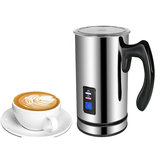 BioloMix Stainless Steel Milk foam Machine Coffee Machine 220V Electric Milk Frother Foamer Milk Warmer Foam Latte Cappuccino Bubble Coffee Maker