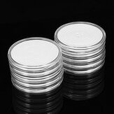 10Pcs Clear Plastic Coin Storage Container Fit 18mm-38mm Capsule Holder Display Case Box Collection