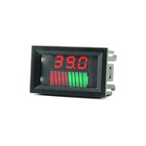 DC 12V 24V 36V 48V 60V 72V Car Lead Acid Battery Capacity Indicator 10 Segment digital Lithium battery Charge Level Indicator