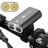 XANES® 600LM Çift T6 LED Bisiklet Işıkları Alüminyum Alaşımlı İki kafalı Far 360 ° Dönen USB Şarjlı Bisiklet Ön Far