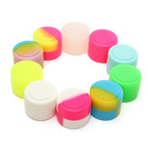 100 Pcs 2ML Colorful Round Silicone Non Varanda Concentrado Containers Jar Storage Caixa