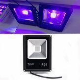 20W UV LED العارض الفيضانات ضوء 365/375/385/395/405 / 415NM في الهواء الطلق ضد للماء مصباح AC85-265V