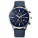 NORTH 6008 Fashion Men Quartz Watch Casual Leather Strap Bussiness Wristwatch
