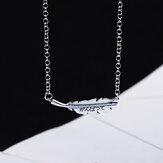 SHENLIN S925 Простое модное ожерелье Женское Элегантные листья Кулон Ожерелье-цепочка на ключицы Шарм Chokcer Женские украшения для вечеринок Пода