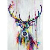 Akwarela głowa jelenia minimalistyczny obraz na płótnie plakat Wall Art wystrój biura domowego