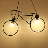 Modern Endüstriyel Demir Bisiklet Çocuk Yatak Odası Süslemeleri Avize Loft Tavan Işık