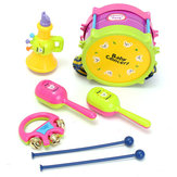 5 Stks Kids Baby Roll Drum Muziekinstrumenten Band Kit Kinderen Speelgoed Gift Set
