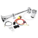 12V 150DB Kit de compressor de buzina de ar de trompete único para carro, caminhão, barco, van, trem