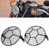 5.75'' Motorcycle LED Headlights Football Grill Cover Protector For Harley Cruiser