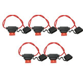 5x Waterproof Car Auto 10Amp In Line Blade Fuse Holder Fuses