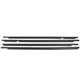 4PC Door Auto Window Trim Molding Belt Weatherstrip Voor Toyota RAV4 2009-2012