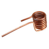 Induction Heating Coil Induction Heating Copper Tube 6mm Quenched Tapless Heating Head DIY ZVS Coil